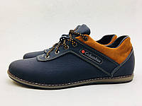 Мужские кроссовки Timberland сине-рыжие