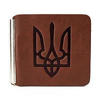 Зажим для денег с гербом Z1-02 (светло-коричневый), фото 1