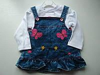 Модный джинсовый сарафан на девочку, фото 1