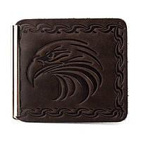 Зажим для денег с орлом Z2-09 (коричневый), фото 1