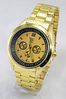 Мужские наручные часы (золотой циферблат, золотой ремешок)