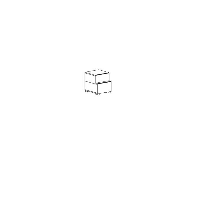 Тумба в дитячу кімнату з ДСП/МДФ приліжкова AXEL Q Blonski атлант+віола