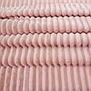 Плюш минки stripes нежно-персиковый в полоску, ширина 84 см, (310 г/м)