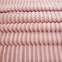 Плюш минки stripes нежно-персиковый в полоску, ширина 84 см, (310 г/м), фото 1
