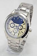 Мужские наручные часы (серебристый корпус, серебристый ремешок)
