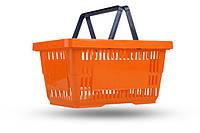 Корзинки новые покупательские объем 22 л. VKF Renzel Польша. Пластиковые корзины. Корзины для покупателей. , фото 1