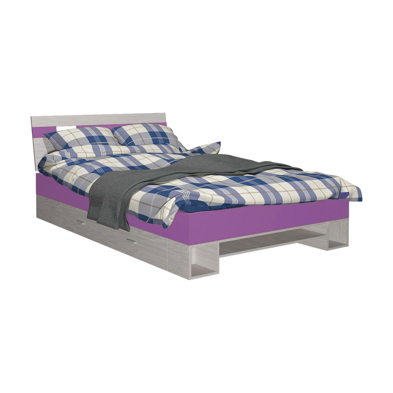 Ліжко дитяче з ДСП/МДФ AXEL R Blonski атлант+віола