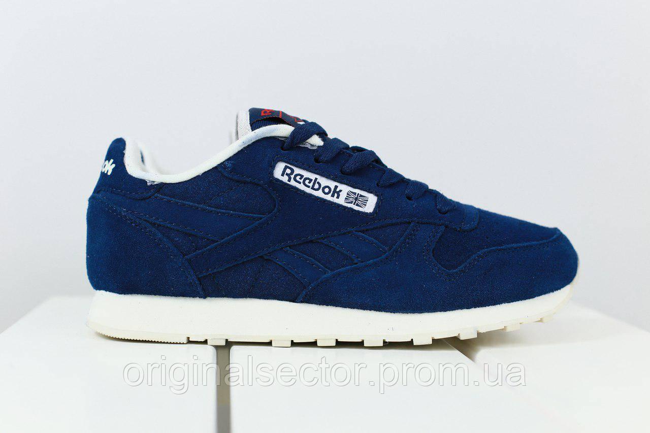 346c227d43dc Темно-синие кроссовки Reebok женские из натуральной замши  продажа ...