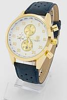 Мужские наручные часы (золотой корпус, синий ремешок)