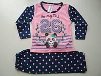 Стильная пижама на девочку Панда, фото 1