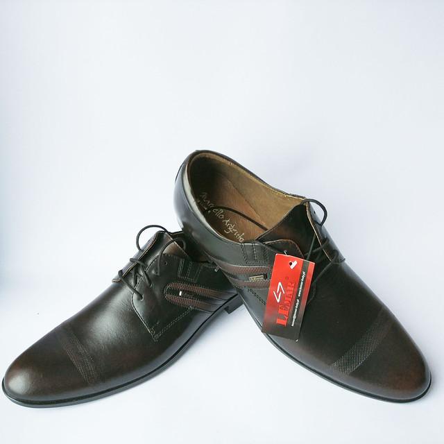 Стильная Lemar обувь Польша классические кожаные мужские туфли на шнуровке