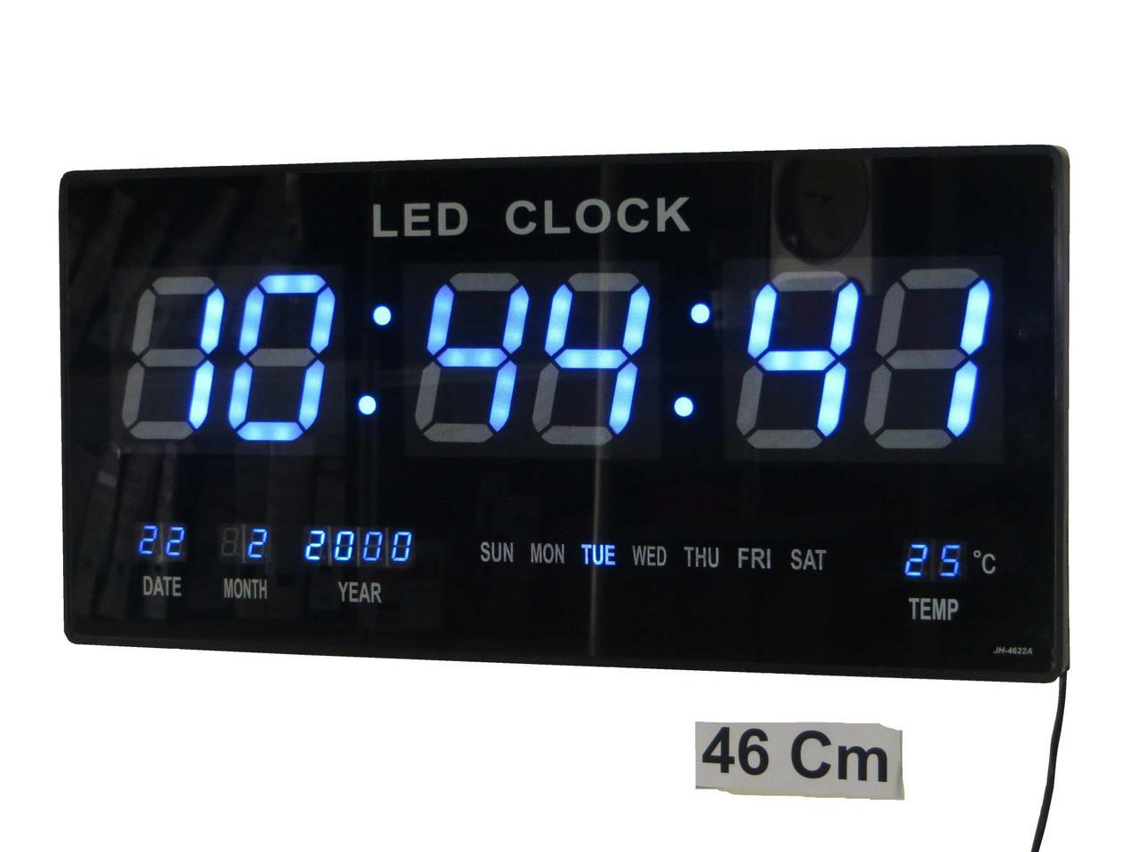 Настенные Электронные Часы LED Clock JH 4622 Blue Синие - Интернет магазин Морковочка в Харькове