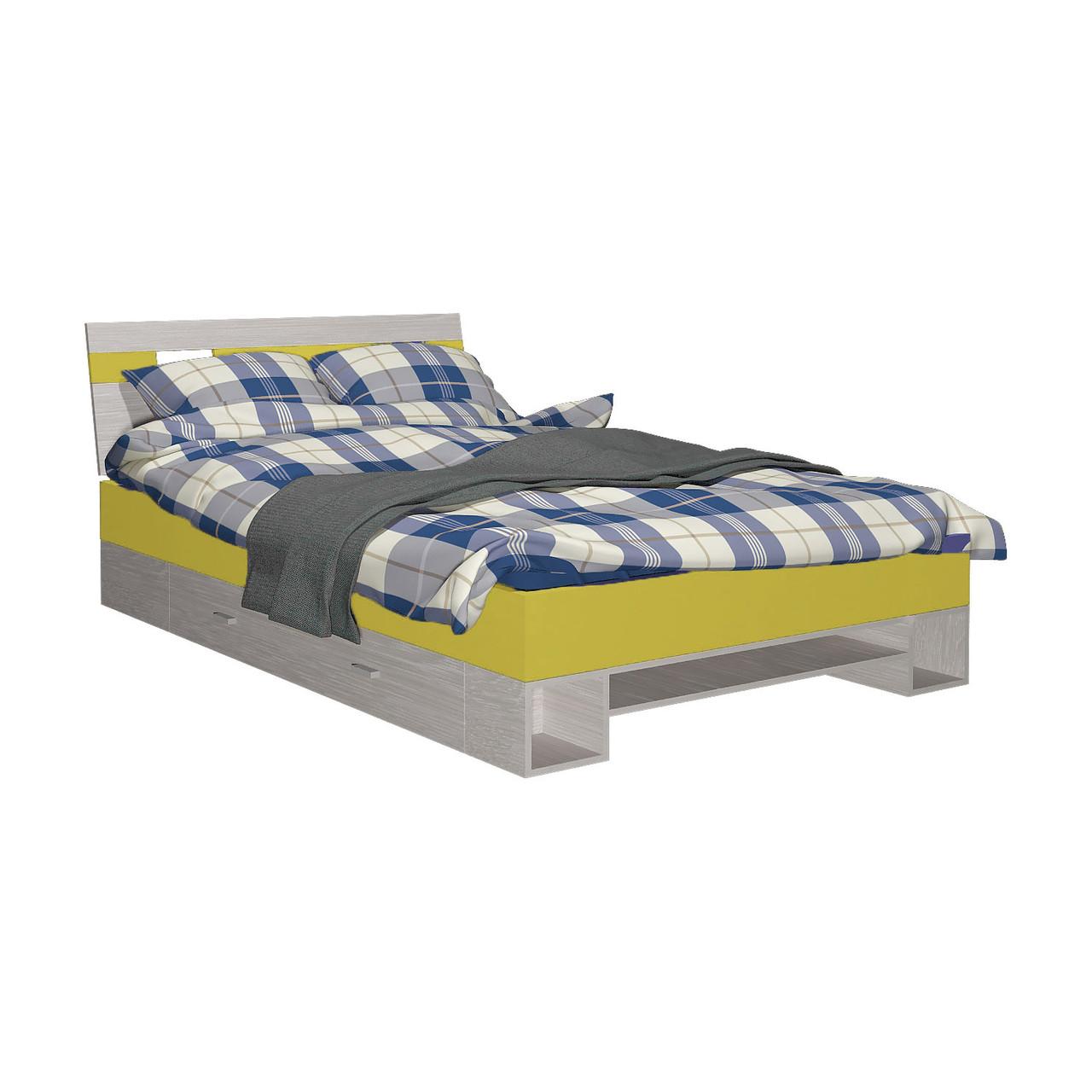Ліжко дитяче з ДСП/МДФ AXEL R Blonski атлант+жовтий