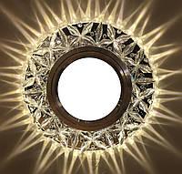 """Встраиваемый светильник Feron 7103 """"Бабочка""""  c LED подсветкой из коллекции """"Light house"""" потолочный"""