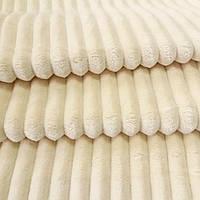 Плюш минки stripes ванильный в полоску, ширина 83 см, (310 г/м), фото 1
