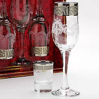 Набор бокалов для шампанского+стопка Мускат 160/837  12 шт