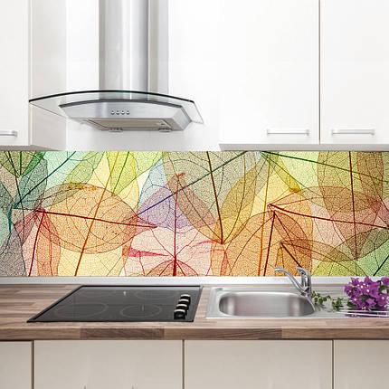 "Фартук на кухню / Скинали ""Листья, абстракция"", фото 2"