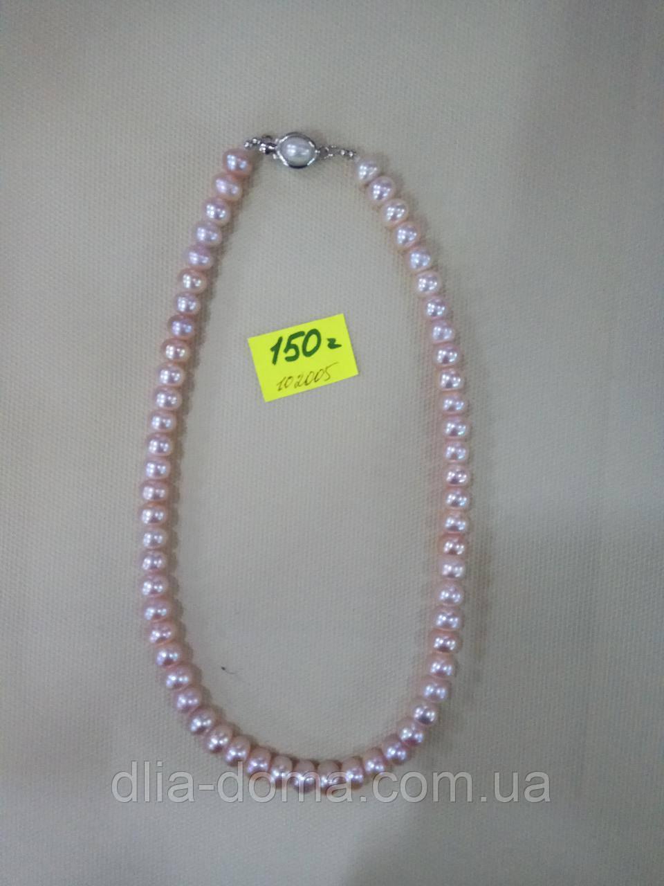 Ожерелье  жемчуг гладкий