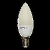 Светодиодная лампа Realux C37 6Вт Е14 480 Lm. нейтральная