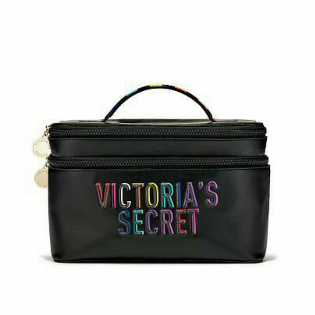 Victoria's Secret Набор дорожных косметичек Rainbow Weekender Train Case 2шт