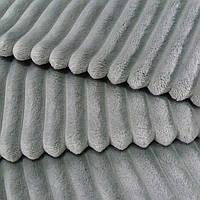 Плюш минки stripes светло-серый в полоску, ширина 84 см, (310 г/м)