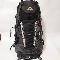 Надежный туристический рюкзак 80 л большой черный вместительный, фото 1