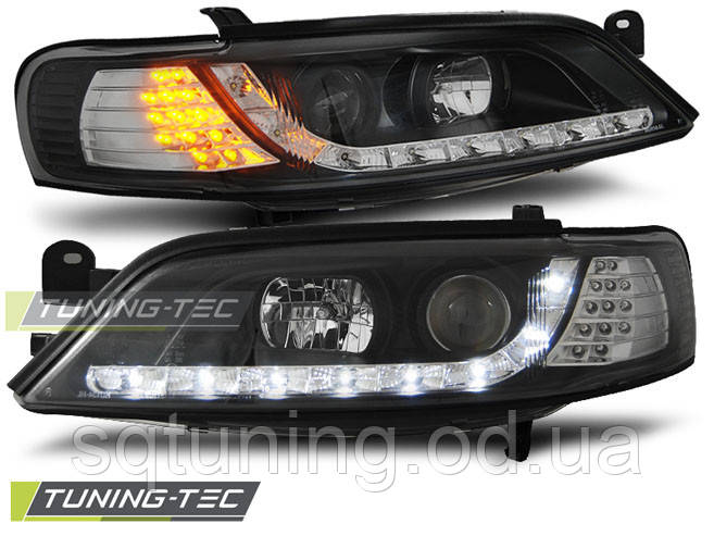 Фари OPEL VECTRA B 11.96-12.98 DAYLIGHT BLACK LED INDICATOR