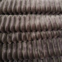 Плюш минки stripes дымчатый коричневый (мокко) в полоску, ширина 84 см, (310 г/м), фото 1
