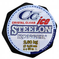 Леска, шнур рыболовный Rovita fishing Леска Konger Steelon ICE Cristal Clear Fluorocarbon Coated 0.14mm/50m