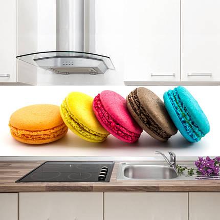 """Фартук на кухню / Скинали """"Разноцветные макаруны"""", фото 2"""