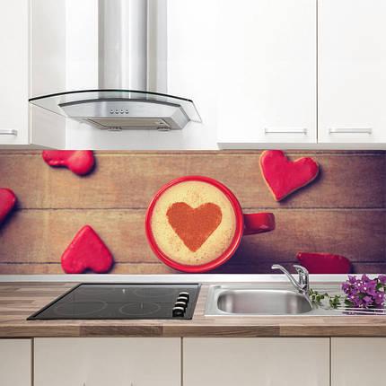 """Фартук на кухню / Скинали """"Сердечки"""", фото 2"""