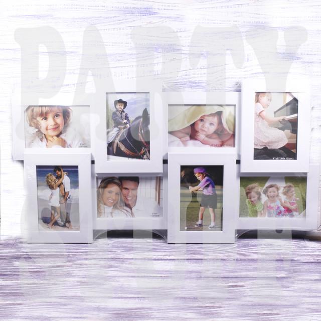 Рамка-коллаж белая на 8 фото