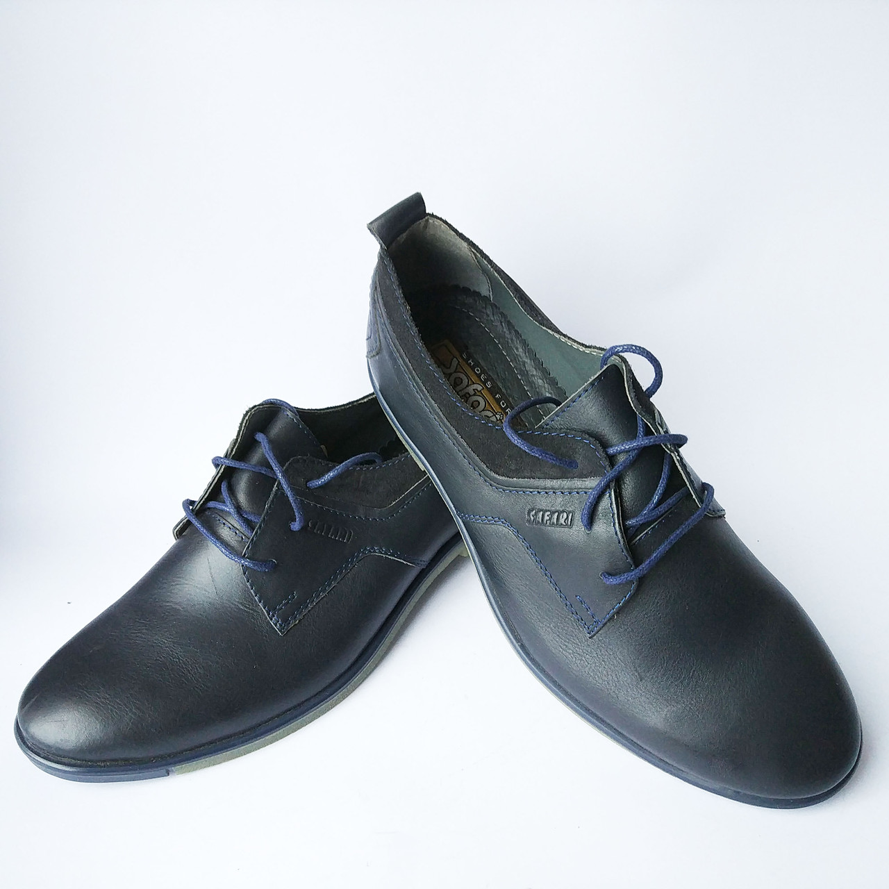 34ca7a15a Синие туфли на шнурках от Safari - Интернет-магазин