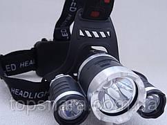 Головний ліхтарик Police BL RJ-3000 T6 діод +2 Led Gree 158000W