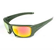 Очки тактические ESS Rollbar на 4 линзы Polarized, зеленая оправа