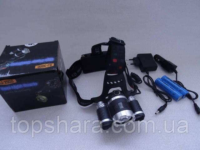 Налобный фонарь Police BL RJ 3000 - T6 диод +2XPE 158000W
