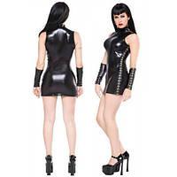 РОЗПРОДАЖ! Вінілове міні-сукня чорного кольору