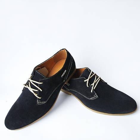Кожаная харьковская мужская обувь   замшевые туфли синего цвета, на ... bac2751acf4