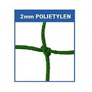 Сетка для футбольных ворот профессиональная зеленая 7,33 x 2,44м, 4мм Yakimasport (100112), фото 2