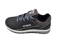 Детские кожаные кроссовки Cross Fit Style LP39 Blue RedheadCross Fit Style LP39 Black р:  30 31 32 33 34 35