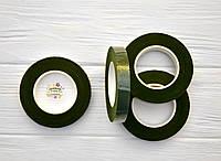 Флористическая тейп-лента, цвет зеленый, ширина 12 мм, длина 27 м, фото 1