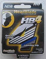 Кассеты HeadBlade HB4 Refill Blades, 4 штуки в упаковке, из США, фото 1