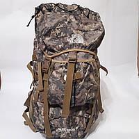 Армійський рюкзак The North Face 60 л похідний камуфляжний піксельний