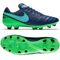 Футбольные мужские бутсы Nike Tiempo Genio II Leather FG, фото 1