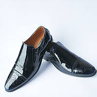 Лаковые туфли броги Stas без шнурков