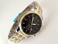 Часы мужские TISSOT - PRC200 кварцевые, цвет с золотом, циферблат черный