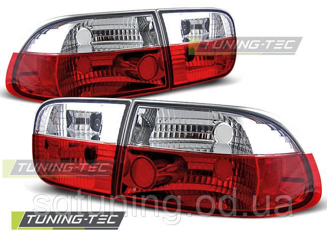 Задние фонари HONDA CIVIC 09.91-08.95 2D/4D RED WHITE