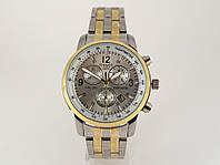 Часы мужские TISSOT - PRC200 кварцевые, цвет с золотом, циферблат серебристый