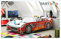 Кровать-автомобиль 80х160 +матрас+ламели, 5 цветов