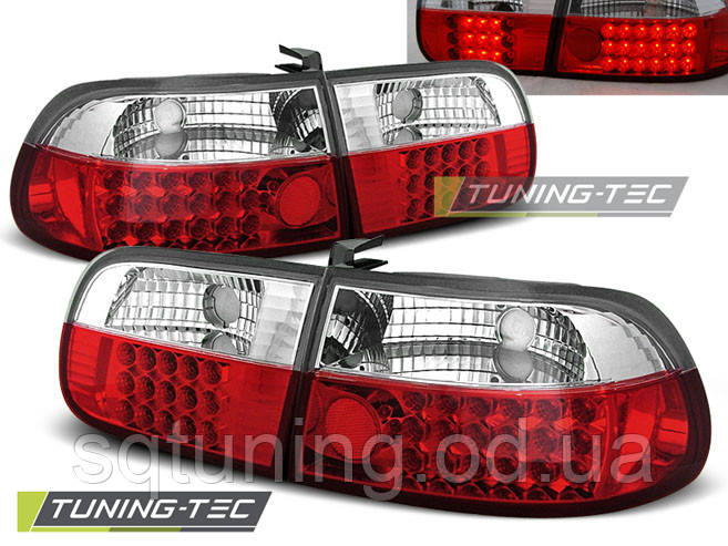 Задні ліхтарі HONDA CIVIC 09.91-08.95 3D RED WHITE LED